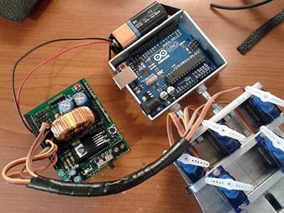 robot hand XBee elettronica collegamenti