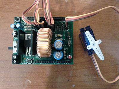 robot hand XBee elettronica servo shield