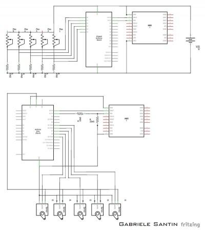 robot hand schema elettrico