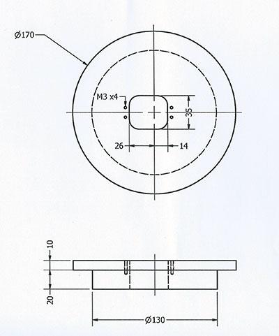 braccio robot base e sezione