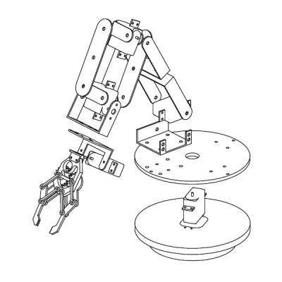 braccio robot esploso