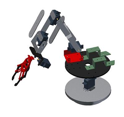 braccio robot schema 3D