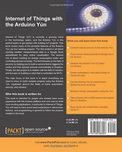 Internet of Things with the Arduino Yun cover rear