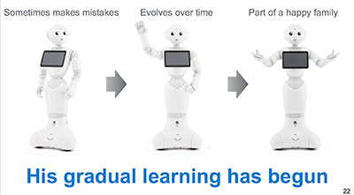 pepper robot gradual learning