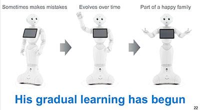 pepper robot gradual learning