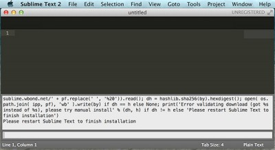 Sublime Text Arduino IDE 1.5.6r2 end installation