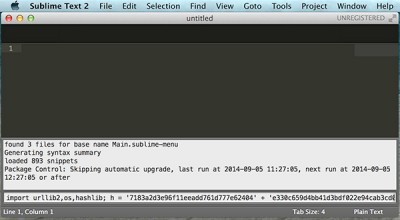 Sublime Text Arduino IDE 1.5.6r2 paste line