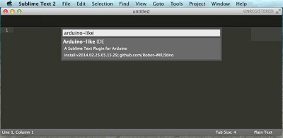Sublime Text Arduino IDE 1.5.6r2 plugin arduino-like