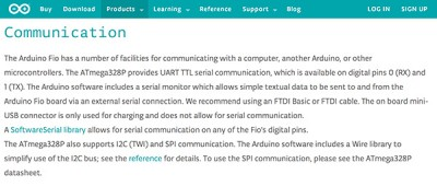 arduino fio comunication