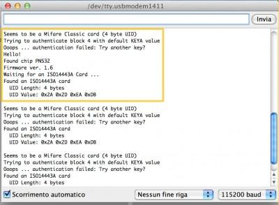 Adafruit NFC Serial Monitor