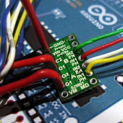 bionic hand DRV8835 controllo arduino retro