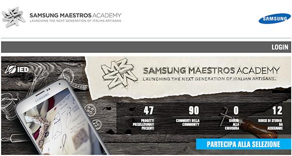 Samsung Maestros Academy @IED home