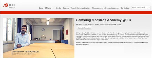 Samsung Maestros Academy IED