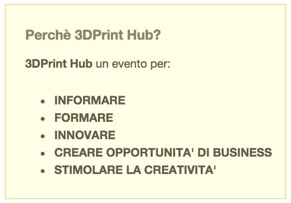 3dPrint hub Milano perche