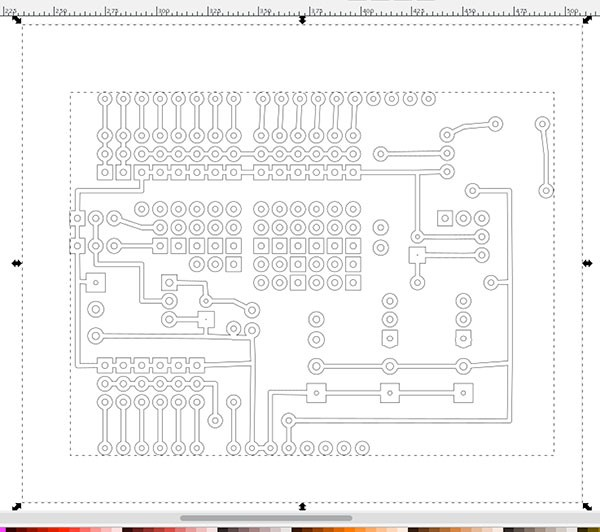 PCB Fritzing to iModela seleziona differenza