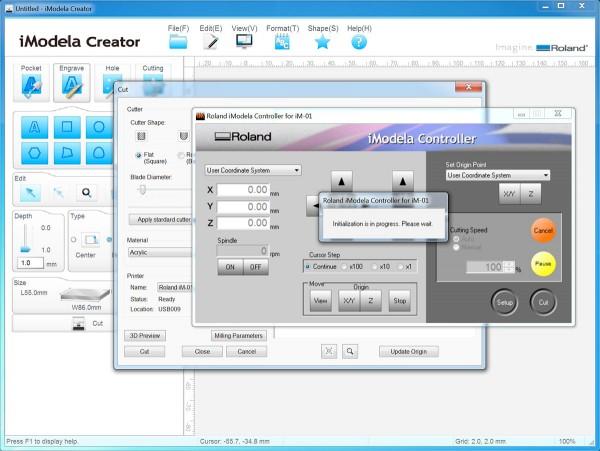 PCB iModela Controller open