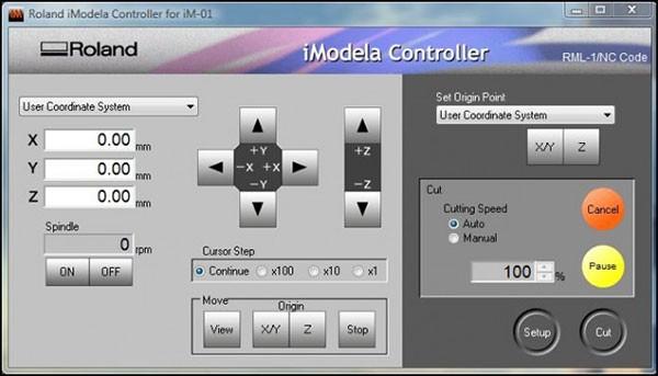 PCB iModela Controller setting