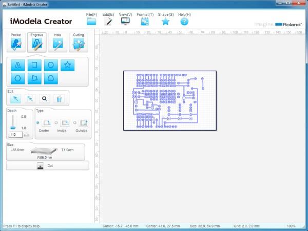 PCB iModela Creator import file