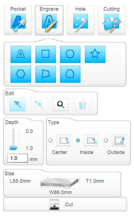 PCB iModela Creator setting