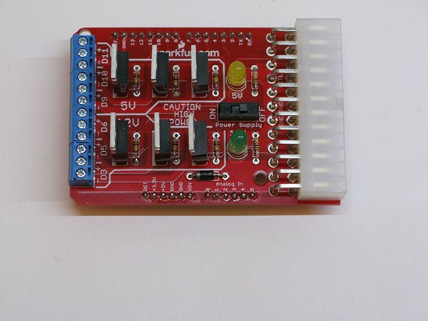 Power Driver Shield pin connection