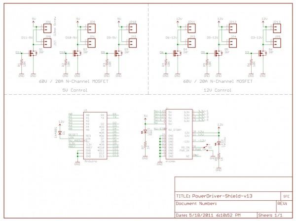Power Driver Shield schema completo