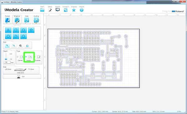 iModela Creator PCB select inside