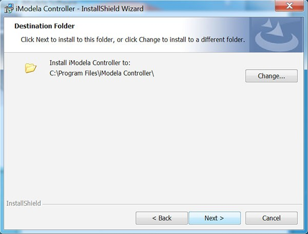 iModela Software install Controller destination