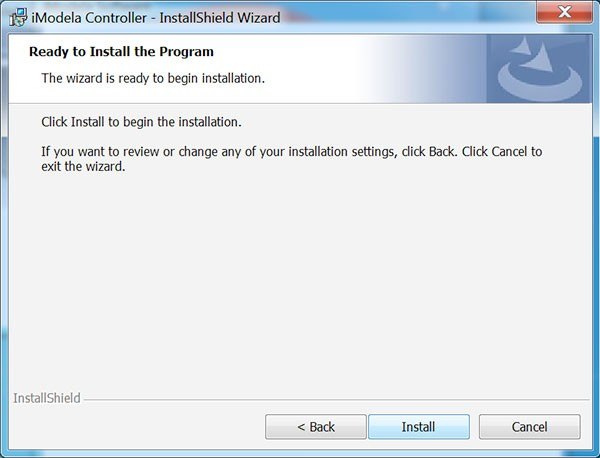 iModela Software install Controller ready to