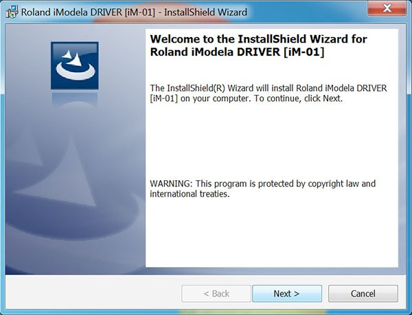 iModela Software install Driver welcome