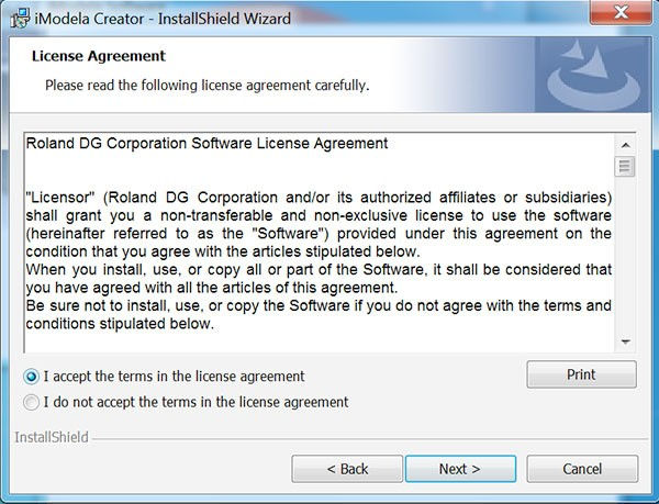 iModela Software install iCreator license