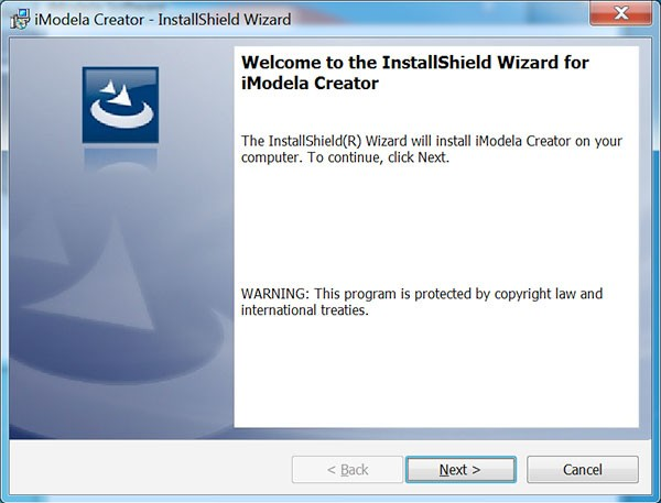 iModela Software install iCreator welcome