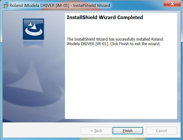 iModela Software installed Driver