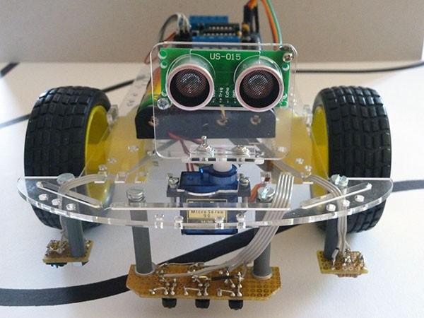 Robot segui linea frontale