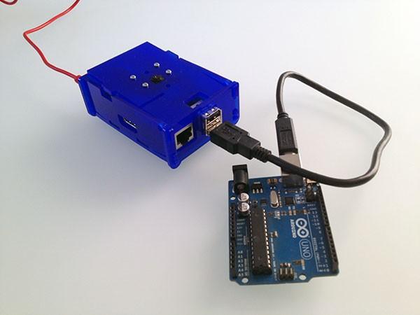remote raspbian control arduino