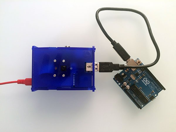remote raspbian control arduino camera closed