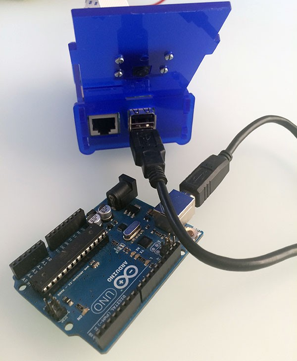 remote raspbian control arduino connected