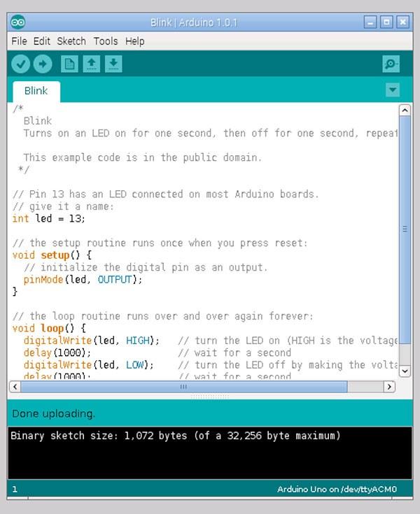 remote raspbian control arduino done upload