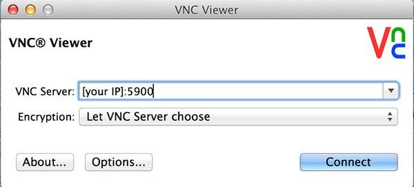 remote raspbian control arduino vnc login