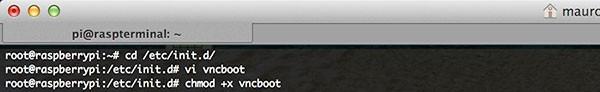 remote raspbian control arduino vncserver on boot