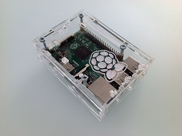 Box Rasperry Pi 2 montato