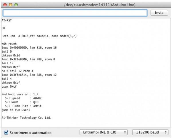 ESP8266 AT+RST result