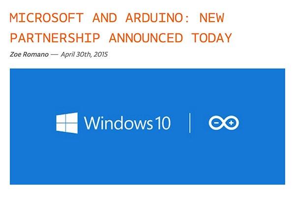 Windows 10 per Makers