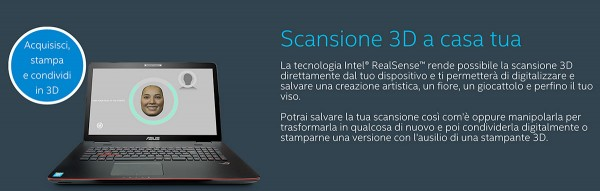intel realsense scansione