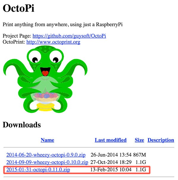 OctoPrint stampa 3d octopi