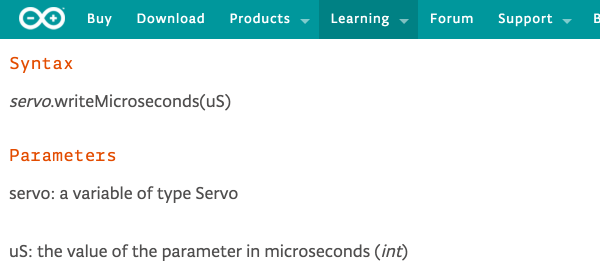 arduino write microseconds