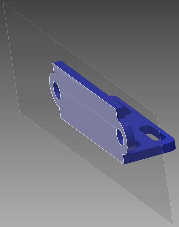 staffa Sharp GP2Y0A21YK fori lato sensore