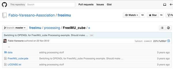 10 DOF FreeIMU Cube GitHub