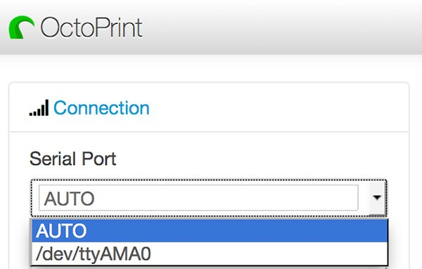 OctoPrint Web Serial Port