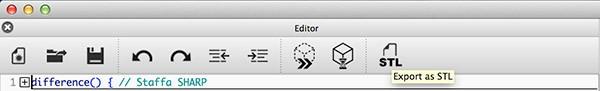 OpenSCAD Update Exposrt STL