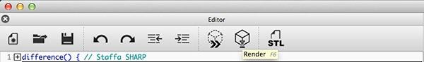 OpenSCAD Update Render button